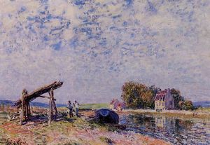 Alfred Sisley - o canal loing no santo Mammes