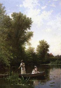 Alfred Thompson Bricher - boating` no tarde