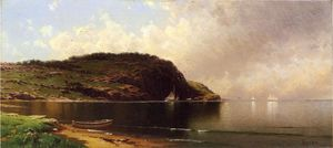 Alfred Thompson Bricher - Seascape com Dory e Veleiros
