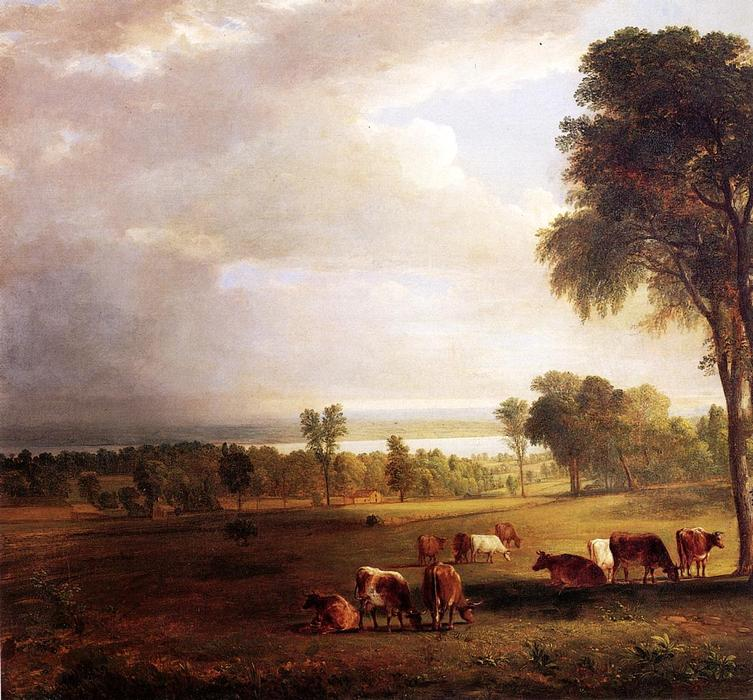 Gathering Storm, óleo por Asher Brown Durand (1796-1886, United States)