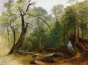 Asher Brown Durand - estudo no madeiras