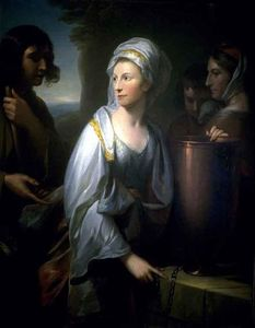 Benjamin West - Maria ; esposa de henry thompson de kirby hall como rebecca no bem