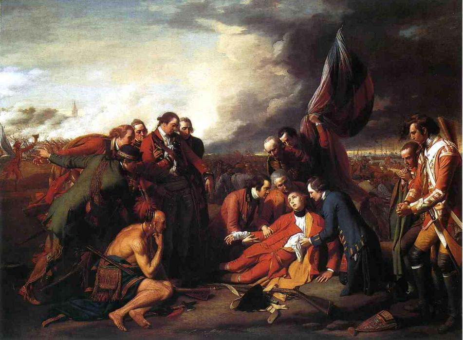 A morte do general Wolfe, 1770 por Benjamin West (1738-1820, United States) | Copy Pintura | WahooArt.com