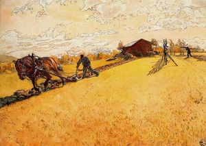 Carl Larsson - Ploughing o campo