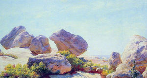 Charles Courtney Curran - Boulders sobre Bear Cliff