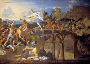 Charles Le Brun - Horatius Cocles defender a Ponte