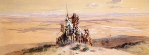Charles Marion Russell - Indianos na Plains