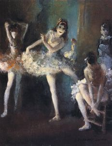 Everett Shinn - ballet raparigas