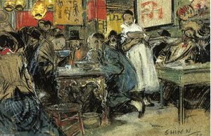 Everett Shinn - chinês restaurante
