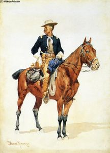 Frederic Remington - Tenente SC Robertson, chefe dos escuteiros do corvo