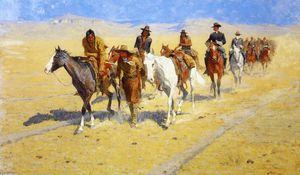 Frederic Remington - Pony faixas do Trilhas Buffalo