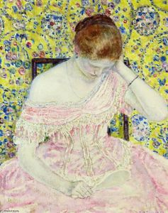 Frederick Carl Frieseke - The Old Fashioned Vestido
