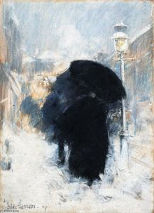 Frederick Childe Hassam - A New York a Blizzard