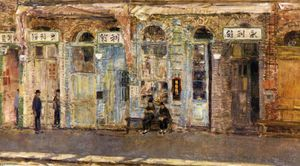 Frederick Childe Hassam - Os comerciantes chineses