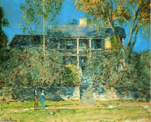 Frederick Childe Hassam - A Holly Farm