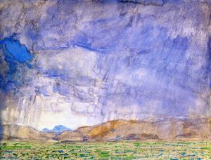 Frederick Childe Hassam - Temporal no Oregon Trail