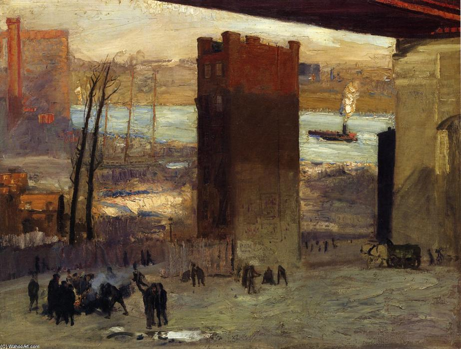 Lone Tenement, 1909 por George Wesley Bellows (1882-1925, United States) | Copy Pintura | WahooArt.com