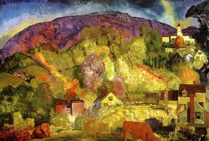 George Wesley Bellows - o aldeia à colina