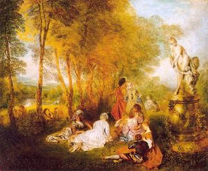 Jean Antoine Watteau - o `pleasures` do amor