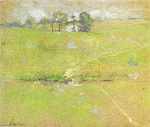 John Henry Twachtman - Caminho na as colinas , Branchville , Connecticut