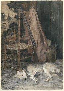 Julian Alden Weir - Dog and Gun do Caçador