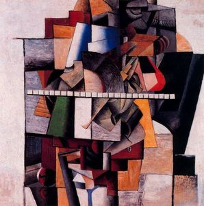 Kazimir Severinovich Malevich - Retrato do Compositor M . V . Maliushin