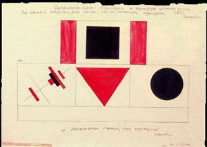 Kazimir Severinovich Malevich - Variações suprematistas e as proporções do Colored