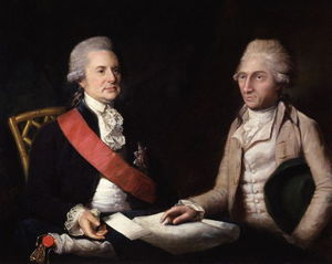 Lemuel Francis Abbott - george macartney , 1st Conde Macartney ; sir george leonard staunton , 1st Bt