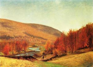 Thomas Worthington Whittredge - outono paisagem , Vermont