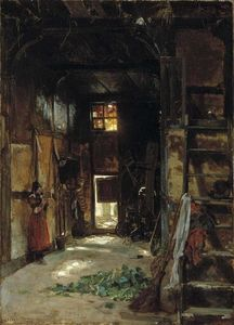 Thomas Worthington Whittredge - Interior de uma casa de campo de Vestefália