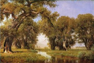 Thomas Worthington Whittredge - No Esconderijo la poudre Rio , Colorado