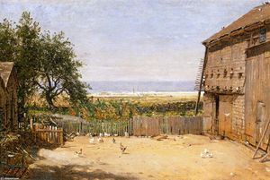 Thomas Worthington Whittredge - O Mar do Dove Cote, Newport, Rhode Island