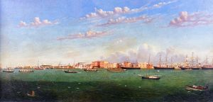William Aiken Walker - Vista do porto de Galveston