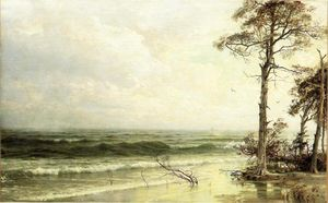 William Trost Richards - Cedars na costa perto de Atlantic City