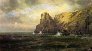 William Trost Richards - Penhascos de Cornwall