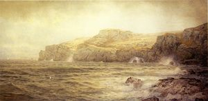 William Trost Richards - conanicut ilha de gray cliff , Newport