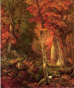 William Trost Richards - floresta interior em outono
