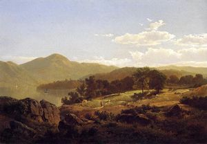 William Trost Richards - Lake George, Opposite Caldwell