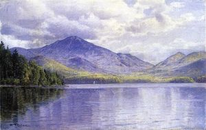 William Trost Richards - Lake Placid, montanhas de Adirondack