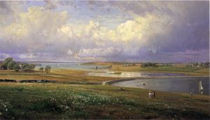 William Trost Richards - Sarda Cove, Jamestown, Rhode Island