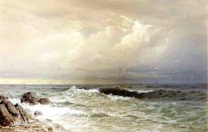 William Trost Richards - fora o costa de rhode Ilha