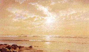 William Trost Richards - na praia -   Luar