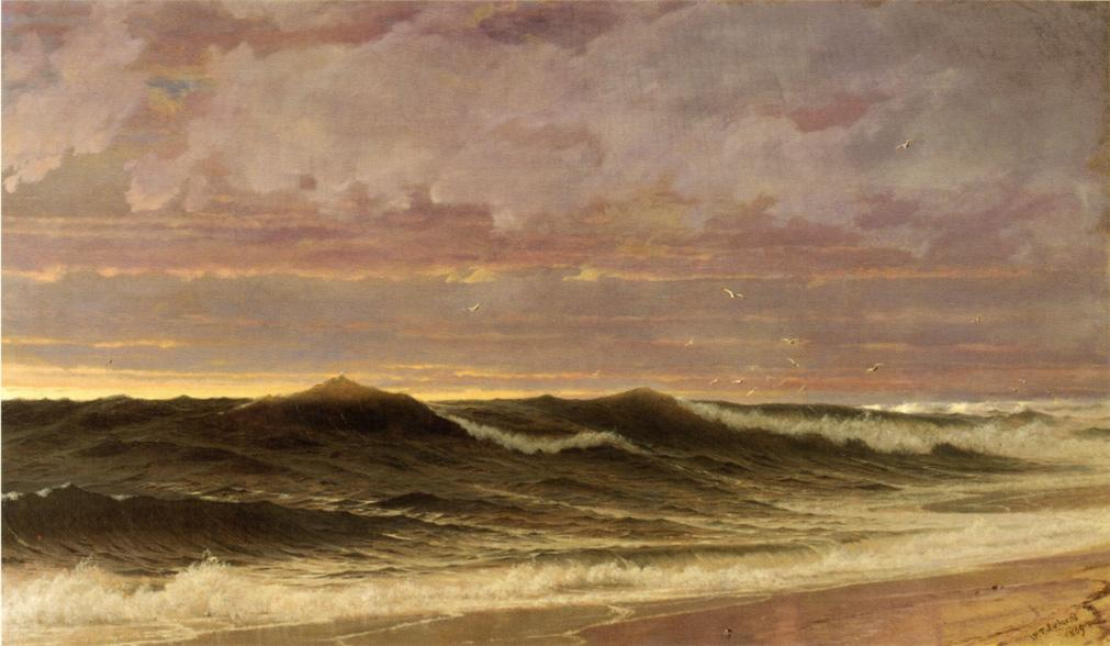Sul Nantucket, 1869 por William Trost Richards (1833-1905, United States) | Gravura De Qualidade De Museu William Trost Richards | WahooArt.com