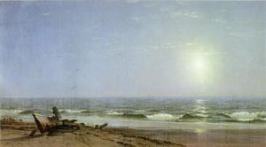 William Trost Richards - Luz solar na costa