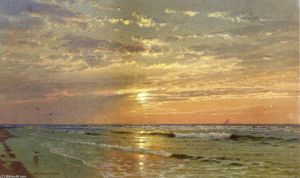 William Trost Richards - Nascer do sol atlântico  metrópole