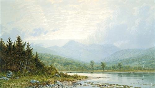 Ordem Reproduções De Arte | pôr do sol no monte chocorua , nova hampshire por William Trost Richards (1833-1905, United States) | WahooArt.com