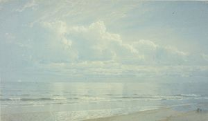 William Trost Richards - Thunderheads no mar . o pérola