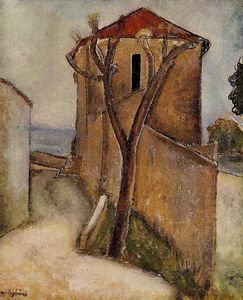 Amedeo Modigliani - Paisagem no Midi