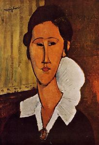 Amedeo Modigliani - Retrato de Anna