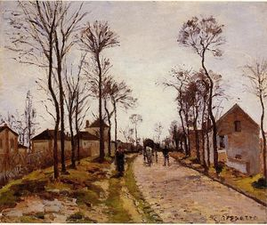 Camille Pissarro - The Road to Caint-Cyr em Louveciennes